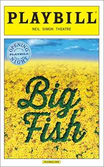 Big Fish Limited Edition Official Opening Night Playbill
