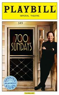 Billy Crystal: 700 Sundays Limited Edition Official Opening Night Playbill