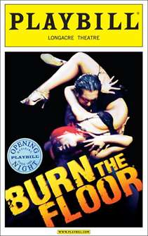 Burn the Floor Limited Edition Official Opening Night Playbill