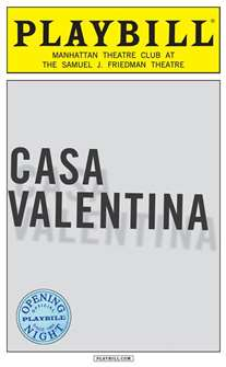 Casa Valentina Limited Edition Official Opening Night Playbill