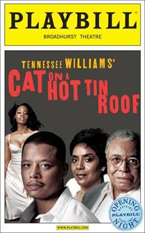 Cat on a Hot Tin Roof (2008) Limited Edition Official Opening Night Playbill