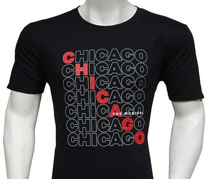 Chicago the Broadway Musical - Repeating Logo T-Shirt