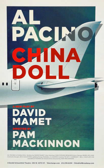 China Doll starring Al Pacino Official Broadway Poster