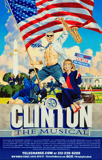 Clinton the Musical Off-Broadway Poster