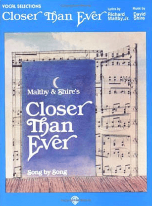 Closer Than Ever Piano/Vocal Selections Songbook
