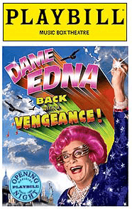 Dame Edna Limited Edition Official Opening Night Playbill