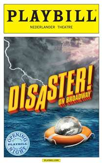 Disaster! the Musical Limited Edition Official Opening Night Playbill