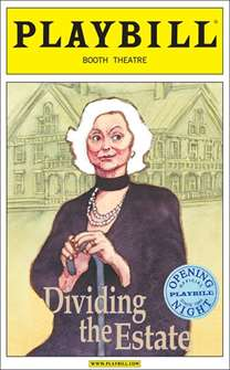 Dividing the Estate Limited Edition Official Opening Night Playbill