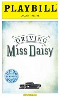 Driving Miss Daisy Limited Edition Official Opening Night Playbill