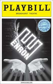 Enron Limited Edition Official Opening Night Playbill