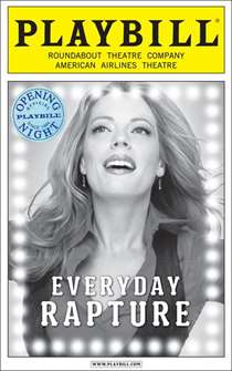Everyday Rapture Limited Edition Official Opening Night Playbill