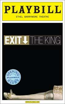 Exit the King Limited Edition Official Opening Night Playbill