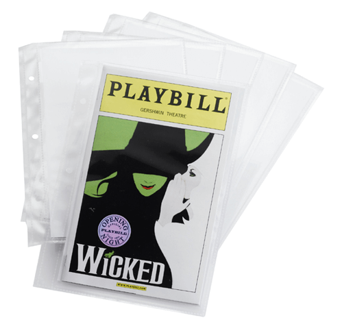 Extra Sleeves for the Ultimate Playbill Binder - Pack of Six