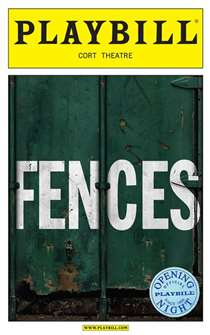 Fences Limited Edition Official Opening Night Playbill