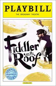 Fiddler On The Roof Limited Edition Official Opening Night Playbill  (2015 Revival)