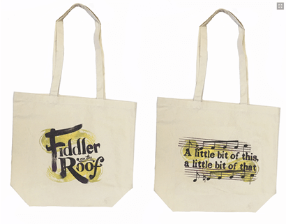 Fiddler On The Roof The Broadway Musical Logo Tote Bag