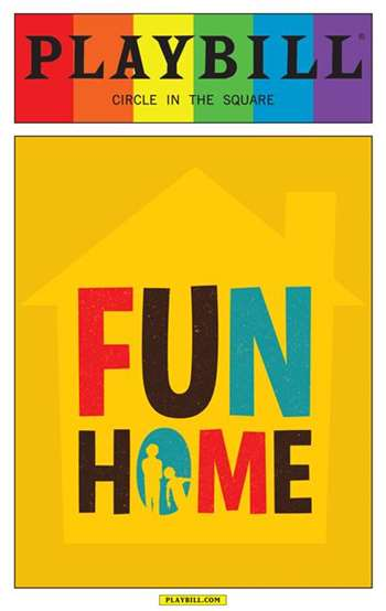 Fun Home The Musical June 2015 Playbill With Rainbow