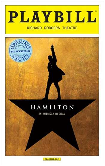 Hamilton The Musical Limited Edition Official Opening