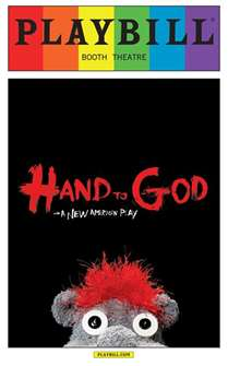 Hand to God - June 2015 Playbill with Rainbow Pride Logo