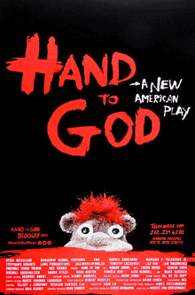 Hand to God Broadway Poster