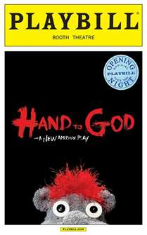 Hand to God Limited Edition Official Opening Night Playbill