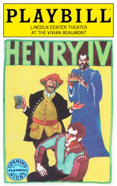 Henry IV Limited Edition Official Opening Night Playbill