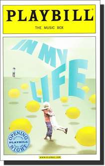 In My Life Limited Edition Official Opening Night Playbill