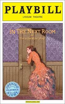 In the Next Room Limited Edition Official Opening Night Playbill