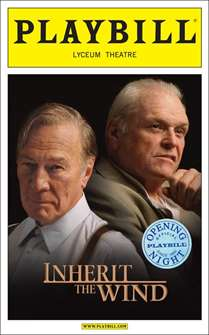 Inherit the Wind Limited Edition Official Opening Night Playbill