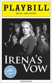 Irenas Vow Limited Edition Official Opening Night Playbill