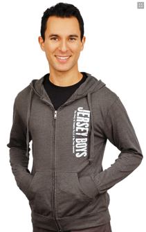 Jersey Boys the Broadway Musical - Charcoal Lightweight Logo Beach Hoodie