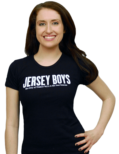 Jersey Boys the Broadway Musical - Ladies Black Logo T-Shirt