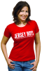 Jersey Boys the Broadway Musical -  Ladies Red Logo T-Shirt