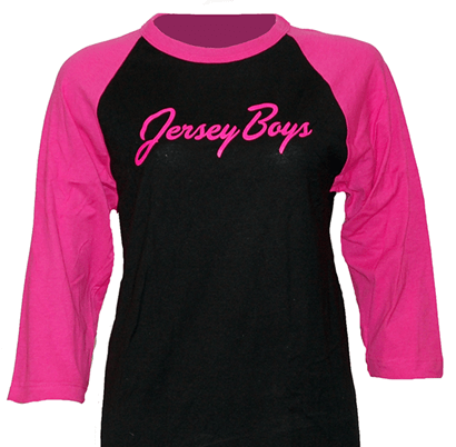 Jersey Boys the Broadway Musical - Pink and Black Longsleeved Ladies T-Shirt