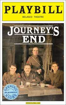 Journeys End Limited Edition Official Opening Night Playbill