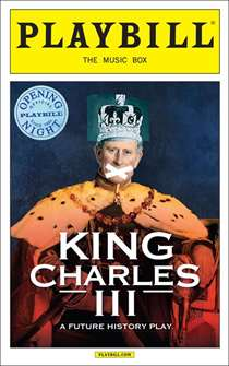 King Charles III Limited Edition Official Opening Night Playbill
