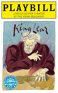 King Lear Limited Edition Official Opening Night Playbill
