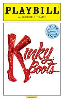 Kinky Boots Official Opening Night Playbill