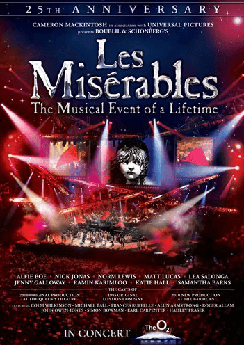 Les Miserables: The 25th Anniversary Concert DVD