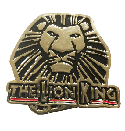 The Lion King the Broadway Musical - Simba Logo Metallic Metal Magnet
