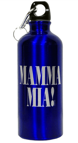 Mamma Mia! the Broadway Musical - Aluminum Water Bottle with Logo