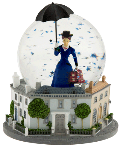 Mary Poppins the Broadway Musical - Snow Globe with Music Box