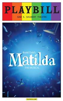 Matilda the Musical - June 2015 Playbill with Rainbow Pride Logo