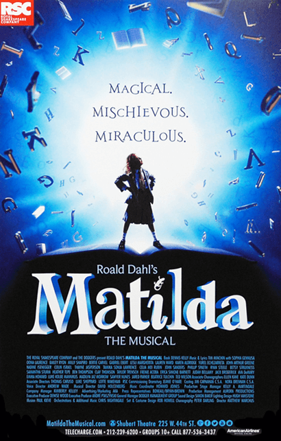 Matilda the Musical Broadway Poster