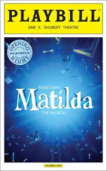 Matilda the Musical Limited Edition Official Opening Night Playbill