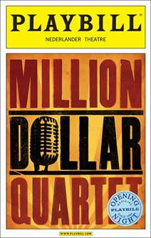 Million Dollar Quartet Limited Edition Official Opening Night Playbill