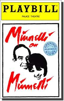 Minnelli on Minnelli Limited Edition Official Opening Night Playbill