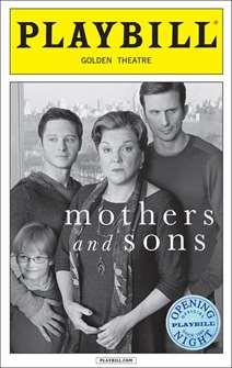 Mothers and Sons Official Opening Night Playbill