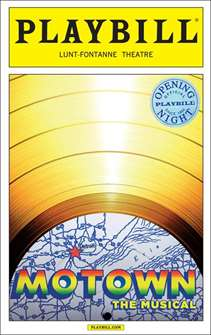 Motown: The Musical Limited Edition Official Opening Night Playbill