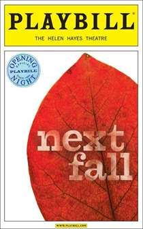 Next Fall Limited Edition Official Opening Night Playbill